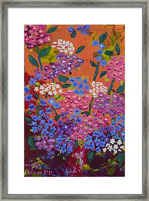 Hydrangea Collage Framed Print
