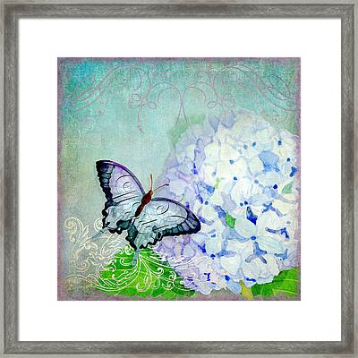 Hydrangea Dreams Framed Print by Audrey Jeanne Roberts