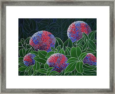 Framed Print featuring the painting Hydrangea Grandiflora by Paul Amaranto