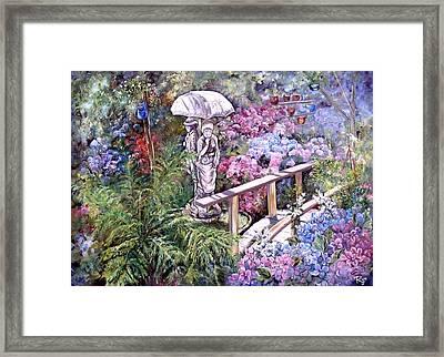 Hydrangea In The Formosa Gardens Framed Print
