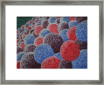 Framed Print featuring the painting Hydrangea Mound by Paul Amaranto