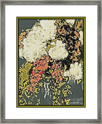 Hydrangea Orchid And Ivy Bouquet 4 Framed Print