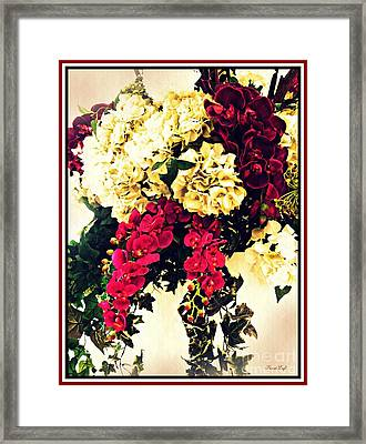 Hydrangea Orchid And Ivy Bouquet Framed Print