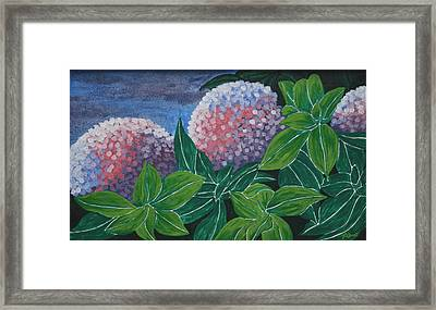 Framed Print featuring the painting Hydrangea by Paul Amaranto