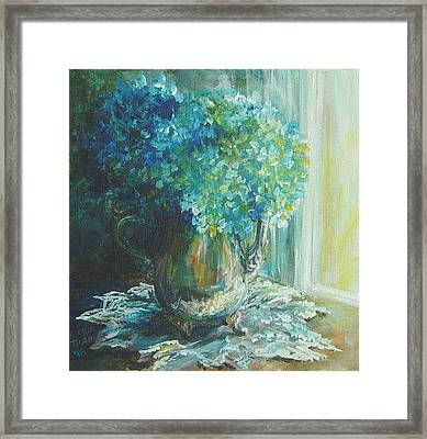 Framed Print featuring the painting Hydrangea Sold by Gloria Turner