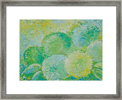 Framed Print featuring the painting Hydrangea Sunrise by Chris Rice