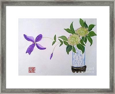 Hydrangeas Framed Print