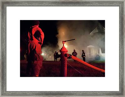 Hydrant Framed Print by Erin Thomas