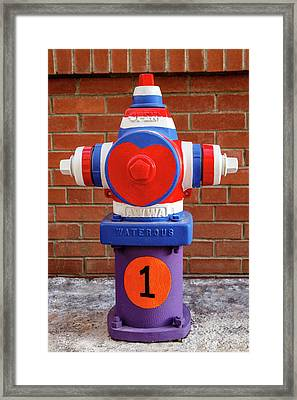 Framed Print featuring the photograph Hydrant Number One by James Eddy