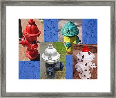 Hydrants 2 Framed Print