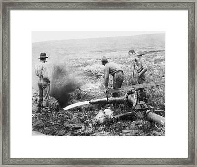 Hydraulic Gold Mining C. 1889 - S. Dakota Framed Print by Daniel Hagerman