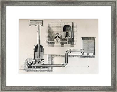 Hydraulic Ram, 19th Century. From Framed Print by Vintage Design Pics
