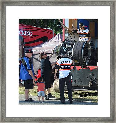 Hydro Power - Jet Engine Framed Print