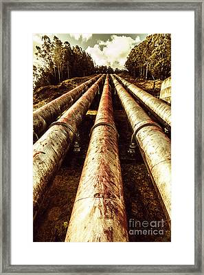 Hydroelectric Pipeline Framed Print