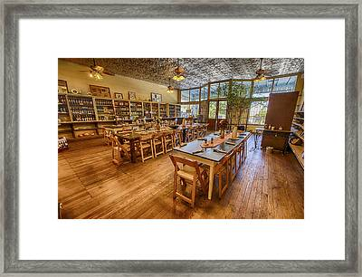 Framed Print featuring the tapestry - textile Hye Market General Store by Kathy Adams Clark