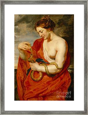 Hygeia - Goddess Of Health Framed Print by Peter Paul Rubens