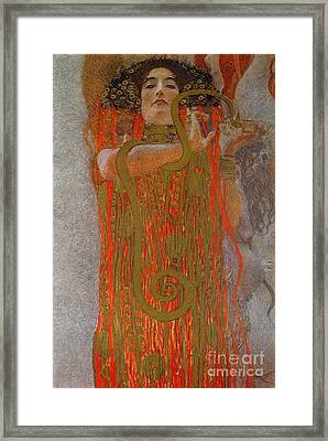 Hygieia Framed Print by Gustav Klimt