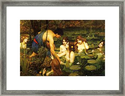 Hylas And The Nymphs Framed Print by Pg Reproductions
