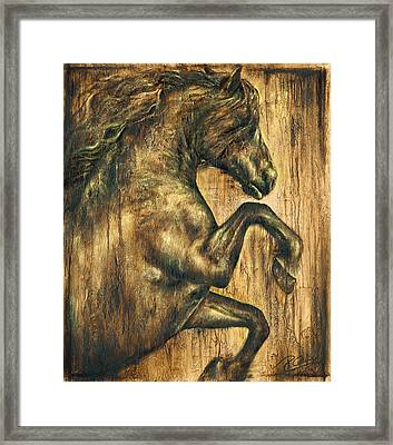 Hymne Framed Print by Paula Collewijn -  The Art of Horses