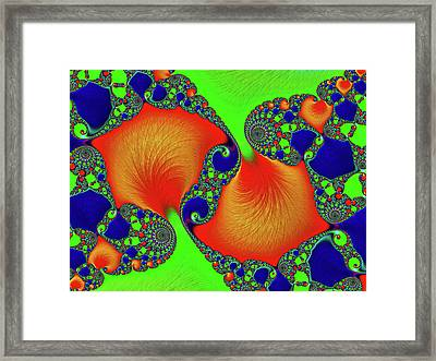 Hyper Modern Abstract Framed Print