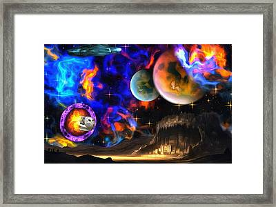 Hyperactivity Sector X66 In The Andromeda Gallaxy Framed Print by Mario Carini