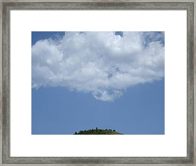 Hyperion - Lonely Cloud On Blue Sky Framed Print