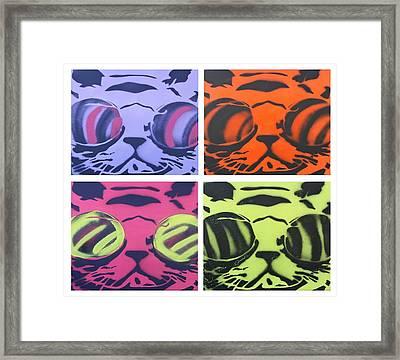 Hypno Cat Pop Pride Framed Print