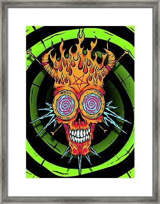 Hypno Skull Framed Print by Pharaoh Laboa