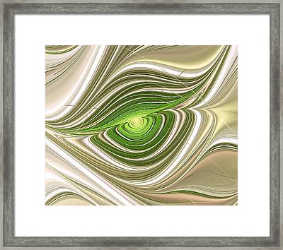 Hypnotic Eye Framed Print by Anastasiya Malakhova