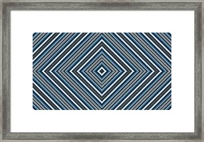 Hypnotic Magic Colorfull Geometric Shapes Framed Print by Nenad Cerovic
