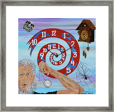 Hypnotic Time Framed Print by Mike Nahorniak