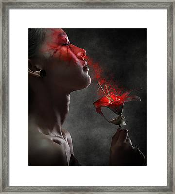 Hypnotized Framed Print by Azalaka
