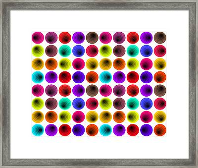Hypnotized Optical Illusion Framed Print