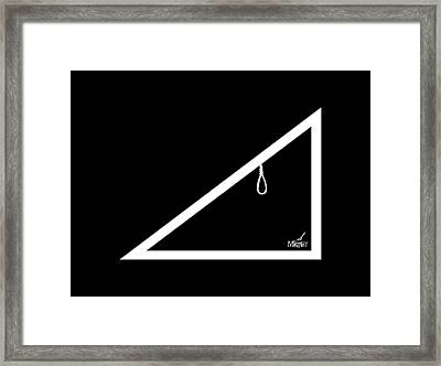 Hypotenoose White Framed Print