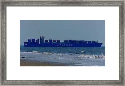 Hyundai Ship Framed Print