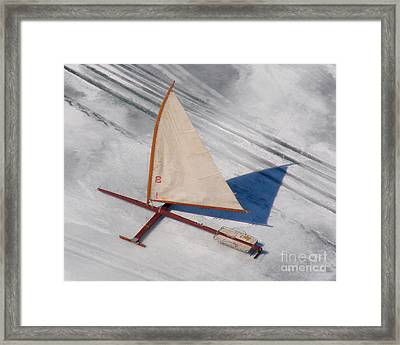 Framed Print featuring the photograph I-001 Iceboat - Wood Antique by Bill Lang