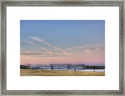 I-55 Bridge Over The Mississippi Framed Print