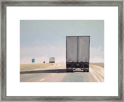 I-55 North 9am Framed Print