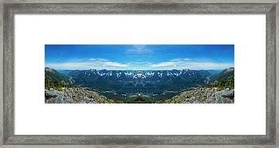 I-90 Corridor Reflection Framed Print