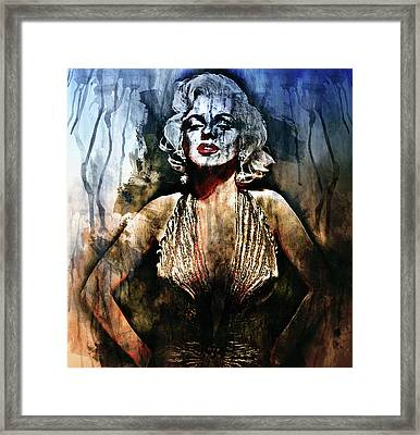 I Ain't Nobody's Baby - Contemporary Grunge Framed Print by Georgiana Romanovna