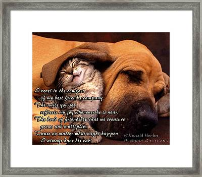 I Always Have His Ear Framed Print