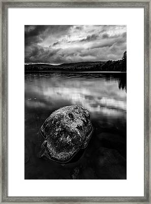 Framed Print featuring the photograph I Am A Rock by Mike Lang