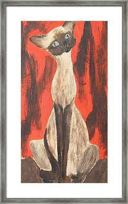 I Am A Siamese If You Please Framed Print by Marsha Elliott