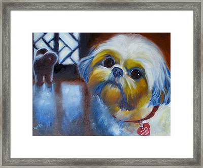 I Am A Therapy Dog Framed Print by Kaytee Esser