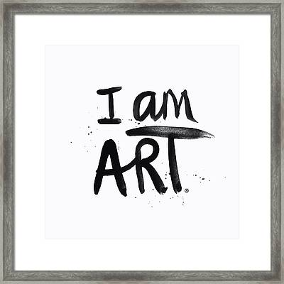 I Am Art Black Ink - Art By Linda Woods Framed Print