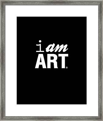 I Am Art- Shirt Framed Print by Linda Woods