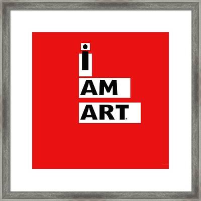 I Am Art Stripes- Design By Linda Woods Framed Print