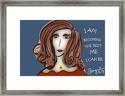 I Am Becoming The Best Me I Can Be Framed Print by Sharon Augustin