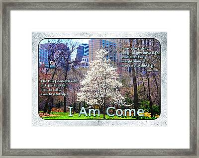 I Am Come Framed Print by Terry Wallace