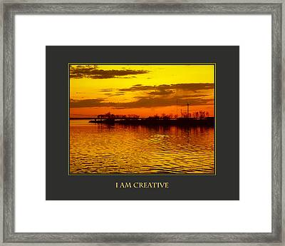 I Am Creative Framed Print by Donna Corless